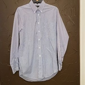 Croft & Barrow blue & white striped dress shirt